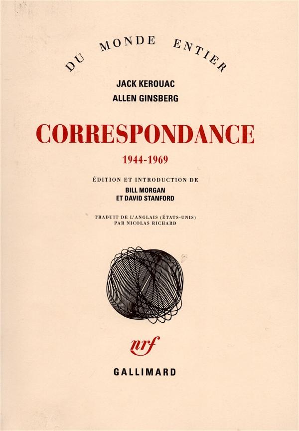 CORRESPONDANCE,jack kerouac,ALLEN GINSBERG,LIRE,LIVRE