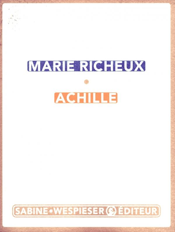 lire,livre,littÉrature,marie richeux,achille